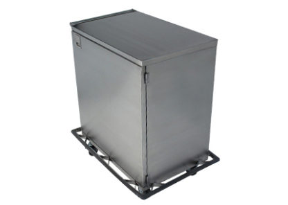 SteriKleen stainless steel single door surgical case cart