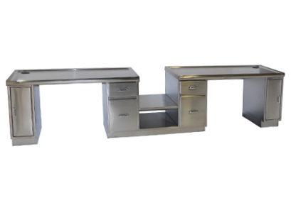 SteriKleen Stainless Steel Administration Casework Desk