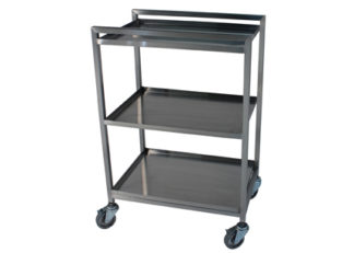 lightweight stainless steel open surgical case cart