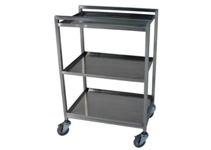 lightweight stainless steel open surgical case cart