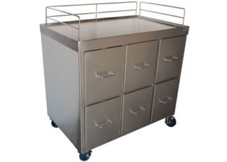 stainless steel operating room medical cabinet with drawers