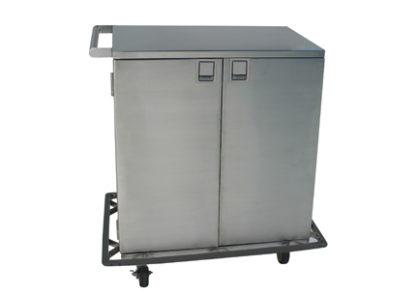 SterilKleen stainless steel surgical case cart double door