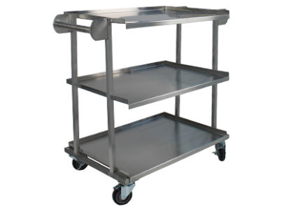 SterilKleen stainless steel surgical utility case cart