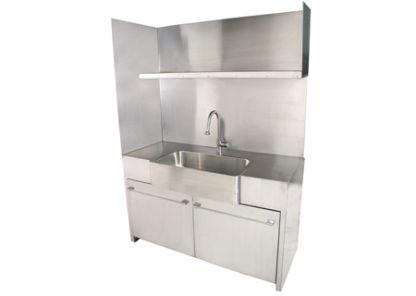 SterilKleen® Stainless Steel Custom Casework Cabinet with Sink