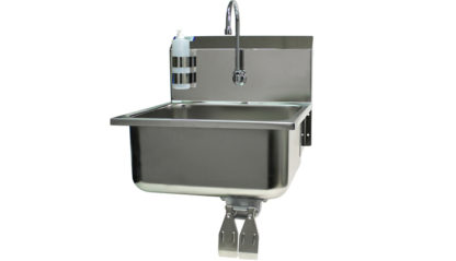 VersaKleen® Stainless Steel Hand Wash Sink with Soap Dispenser showing larger image of overall sink