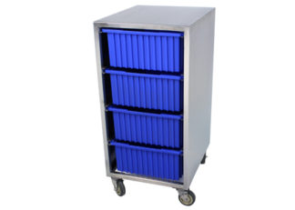 SterilKleen® Stainless Steel Instrument Assembly Tote Storage Cart