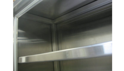SterilKleen® Stainless Steel Laboratory Wall Cabinet interior view of optional shelf