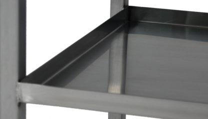 SterilKleen® Stainless Steel Lightweight Surgical Open Case Cart showing Shelf detail