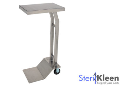 SterilKleen® Stainless Steel Mobile Instrument Stand with SterilKleen Logo