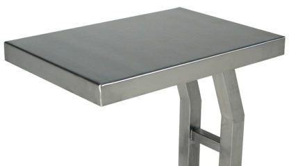 SterilKleen® Stainless Steel Mobile Instrument Stand work surface detail