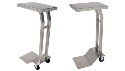 SterilKleen® Stainless Steel Mobile Instrument Stand with 2 views of cart