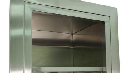 SterilKleen open storage operating room cabinet top shelf detail view