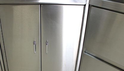 SterilKleen® Stainless Steel Base Casework Cabinet showing cabinet exterior