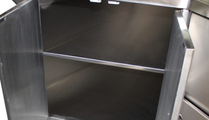 SterilKleen® Stainless Steel Base Casework Cabinet showing cabinet interior with removable shelf