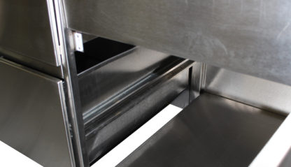 SterilKleen® Stainless Steel Base Casework Cabinet showing cabinet interior