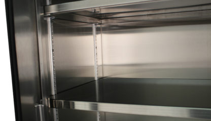 SterilKleen® Stainless Steel Hospital Cabinet showing interior adjustable shelf detail