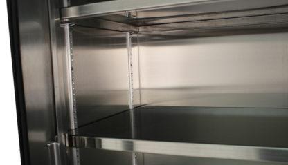 SterilKleen® Stainless Steel Hospital Cabinet showing interior adjustable shelf detail