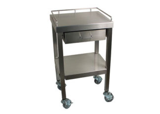 SterilKleen® Stainless Steel Surgical Utility Table Cart with One Drawer