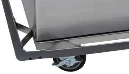 SterilKleen® Stainless Steel Double Door Surgical Case Cart showing bumper and caster detail