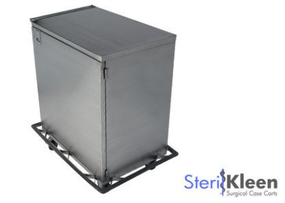 SterilKleen® Stainless Steel Single Door Surgical Case Cart with SterilKleen logo