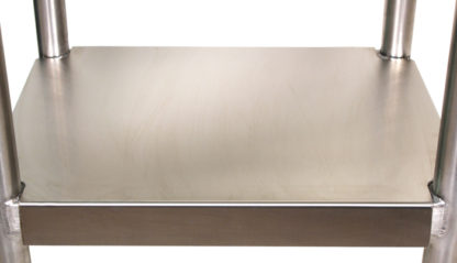 SterilKleen® Stainless Steel Surgical Utility Table Cart showing lower shelf detail