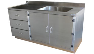 SterilKleen® Stainless Steel Laboratory Casework Cabinet with Sink zoom image
